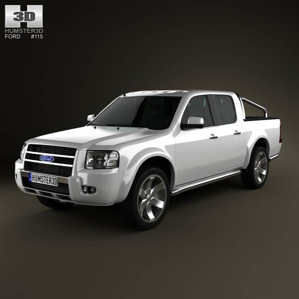 Ford Ranger Double Cab 2003 3d car model