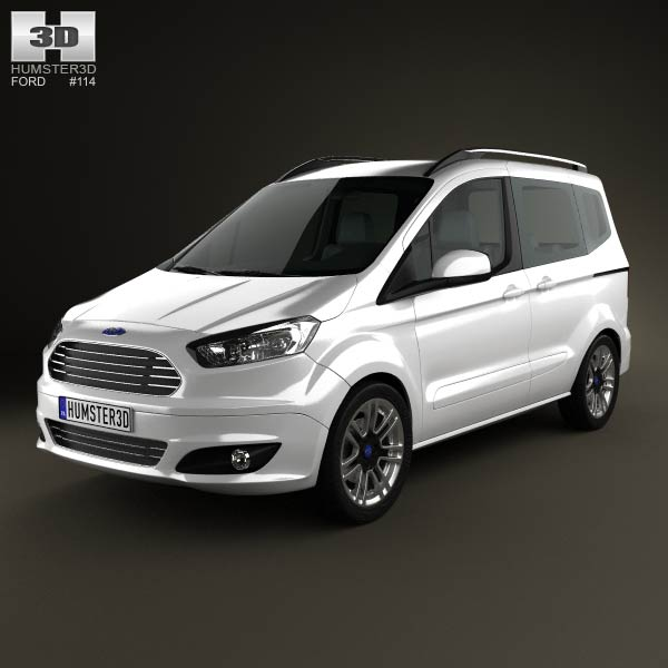 Ford Tourneo Courier 2013 3d car model