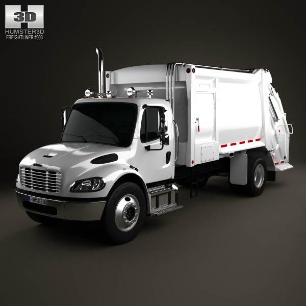 Freightliner M2 Heil PT 1000 Garbage Truck 2012 3d car model