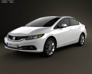 3D model of Honda Civic sedan 2013