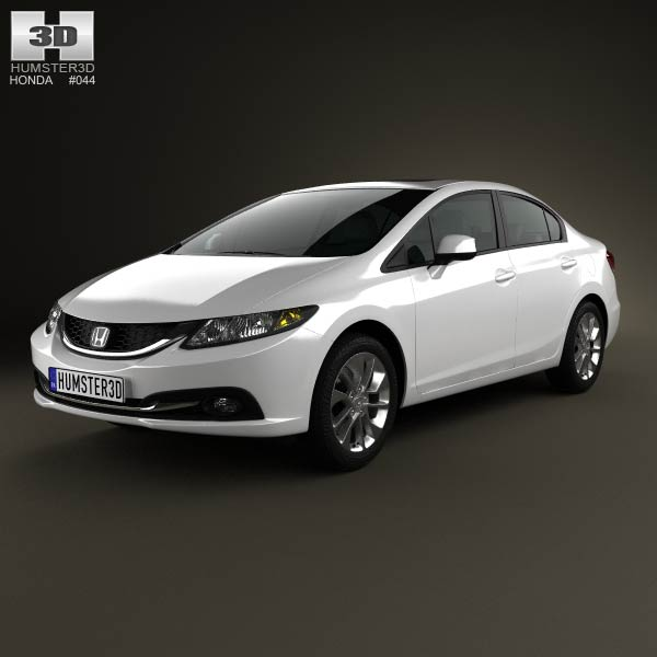 Honda Civic sedan 2013 3d car model