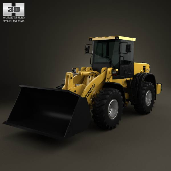 Hyundai HL757-9S Wheel Loader 2012 3d car model