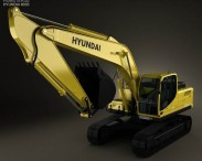 3D model of Hyundai R220LC-9S Excavator 2013