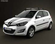 3D model of Hyundai i20 5-door 2013