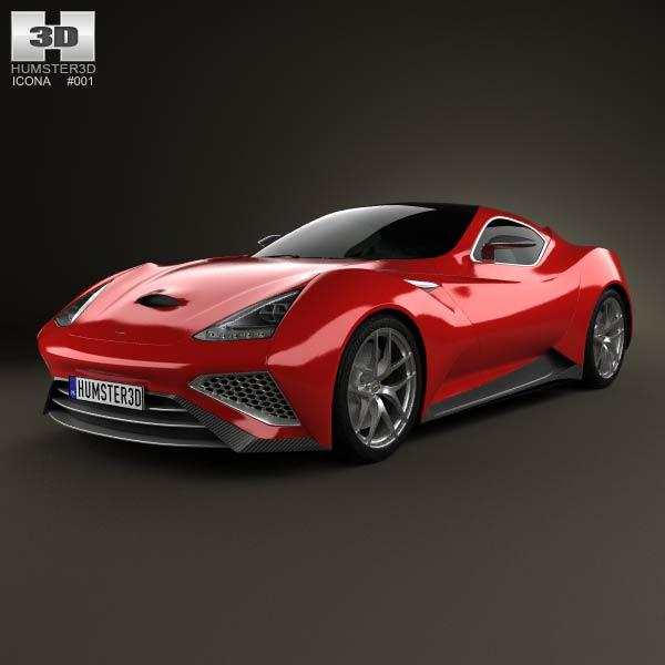 Icona Vulcano 2013 3d car model