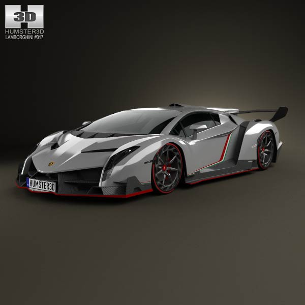 Lamborghini Veneno 2013 3d car model