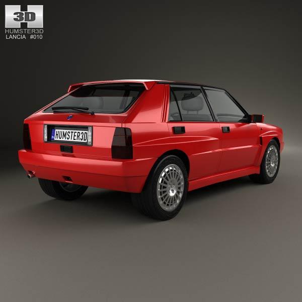 Lancia Delta Integrale 1992 3d model