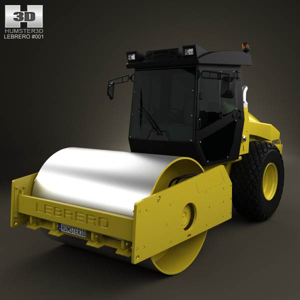Lebrero X3 Drum Roller 2012 3d car model