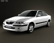 3D model of Mazda 626 (GF) sedan 1998