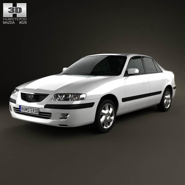 Mazda 626 (GF) sedan 1998 3d car model