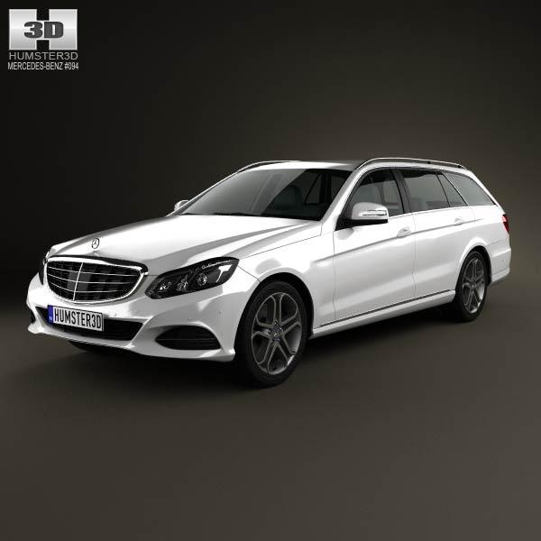 Mercedes benz e class estate w212 2014 3d model humster3d for Mercedes benz 2014 models