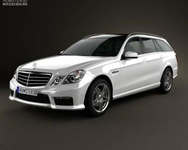 3D model of Mercedes-Benz E-class 63 AMG estate 2010