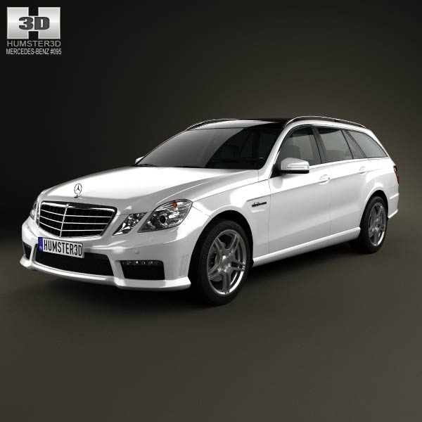 Mercedes-Benz E-class 63 AMG estate 2010 3d car model
