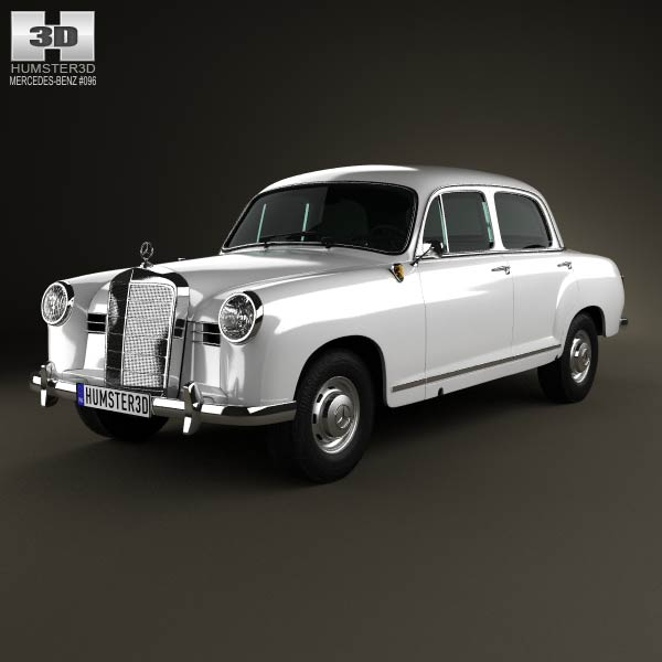 Mercedes-Benz Ponton 180 W120 1953 3d car model