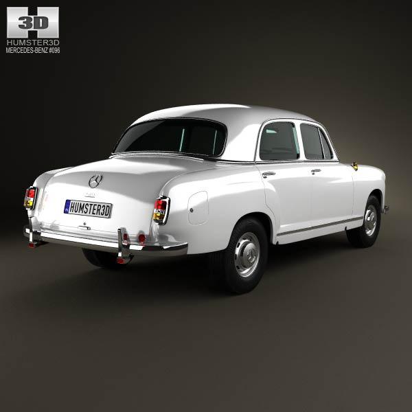 Mercedes-Benz Ponton 180 W120 1953 3d model