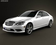 3D model of Mercedes-Benz S-Class (W221) 2012