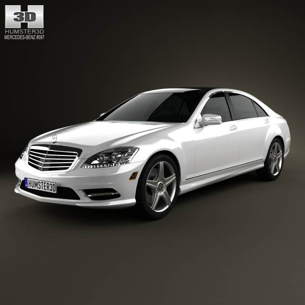 Mercedes-Benz S-Class (W221) 2012 3d car model