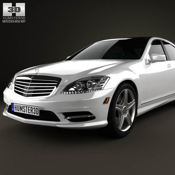 Mercedes benz s class w221 2012 3d model humster3d for Mercedes benz different models