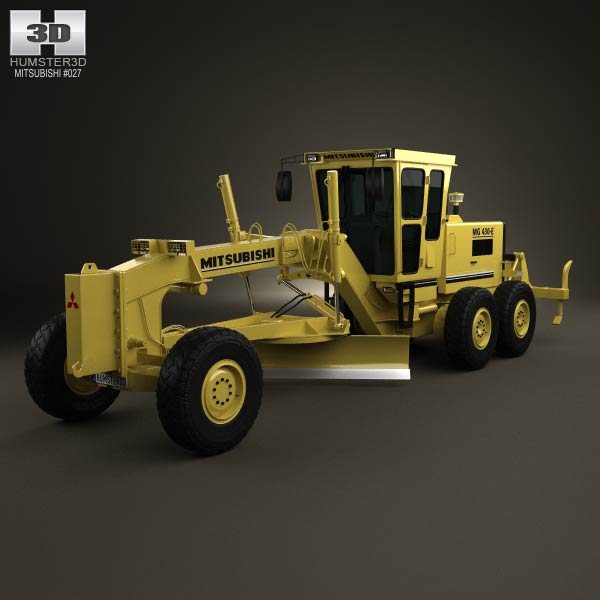 Mitsubishi MG430 E Grader 1992 3d model