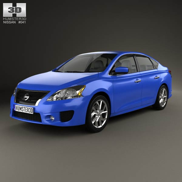 Nissan Sentra SR 2013 3d car model