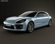 3D model of Porsche Panamera Sport Turismo 2012