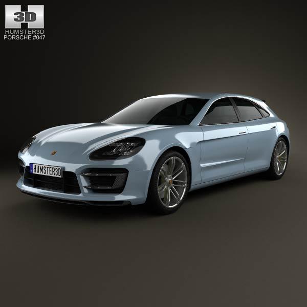 Porsche Panamera Sport Turismo 2012 3d car model