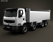 3D model of Renault Premium Lander Tipper Truck 2012