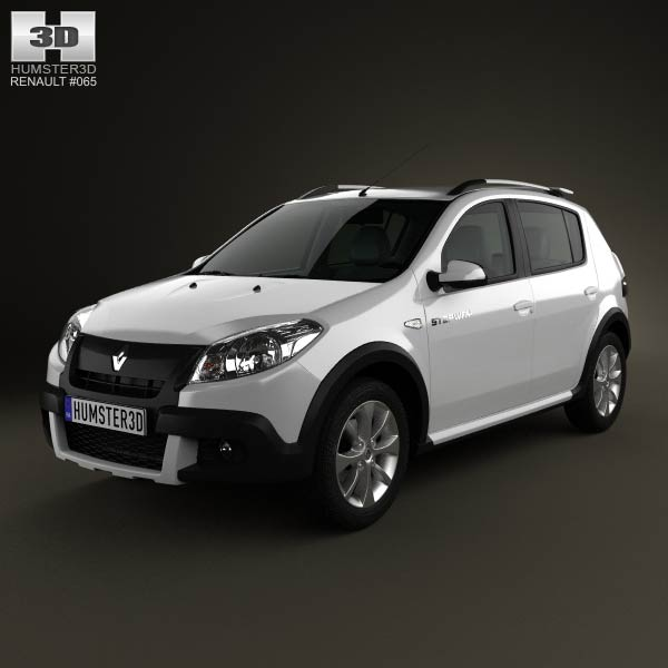 Renault Sandero Stepway (BR) 2011 3d car model
