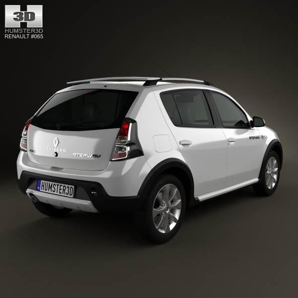 Renault Sandero Stepway (BR) 2011 3d model