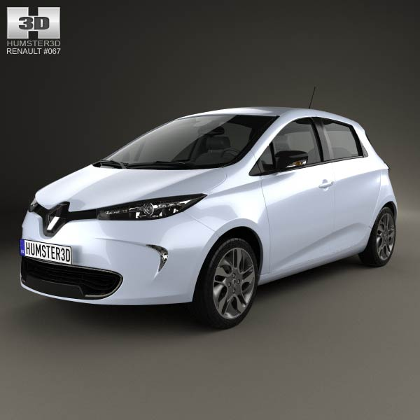 renault zoe 2013 3d model humster3d. Black Bedroom Furniture Sets. Home Design Ideas