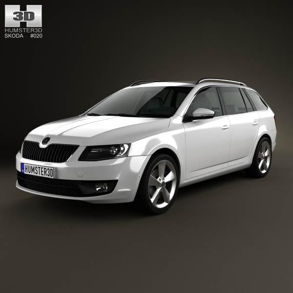 Skoda Octavia Combi 2013 3d car model