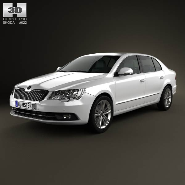 Skoda Superb 2014 3d car model