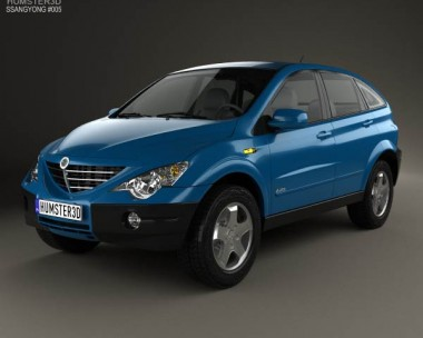 3D model of SsangYong Actyon 2006