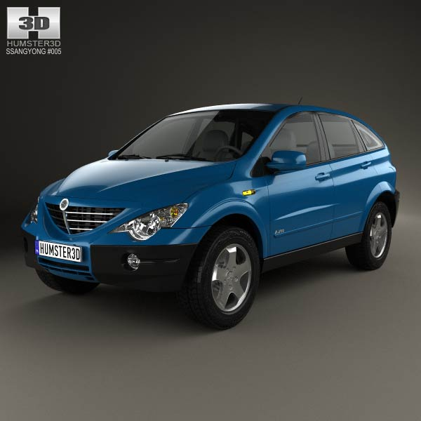 SsangYong Actyon 2006 3d car model