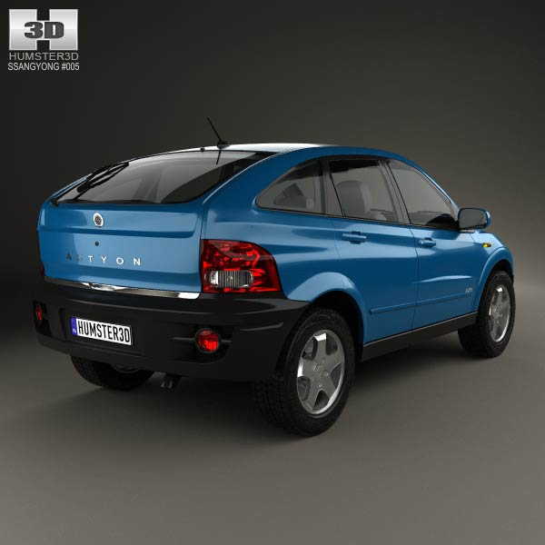 SsangYong Actyon 2006 3d model