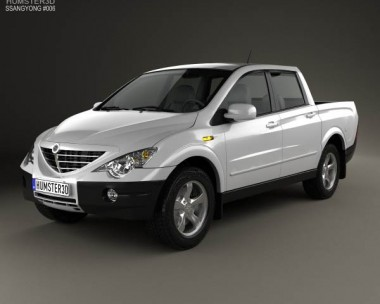 3D model of SsangYong Actyon Sports 2006