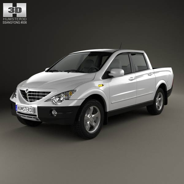 SsangYong Actyon Sports 2006 3d car model
