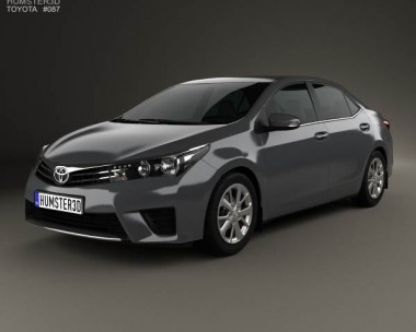 3D model of Toyota Corolla sedan 2014