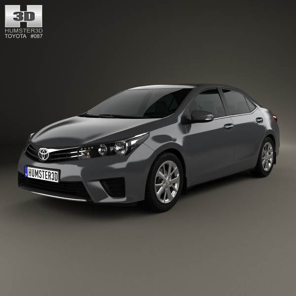 Toyota Corolla sedan 2014 3d car model