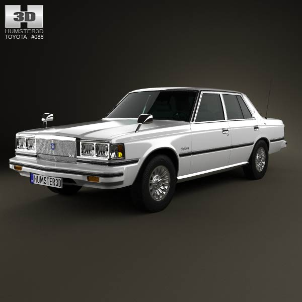 Toyota Crown sedan 1979 3d car model