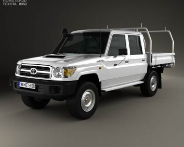 3D model of Toyota Land Cruiser (J70) Double Cab Pickup 2012