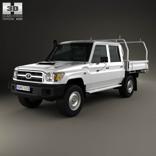 Toyota Land Cruiser (J70) Double Cab Pickup 2012 3d car model
