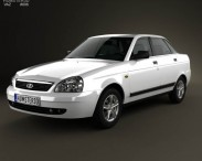 3D model of Lada Priora 2170 sedan 2012