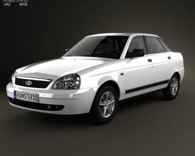 3D model of Lada Priora 2170 sedan 2012
