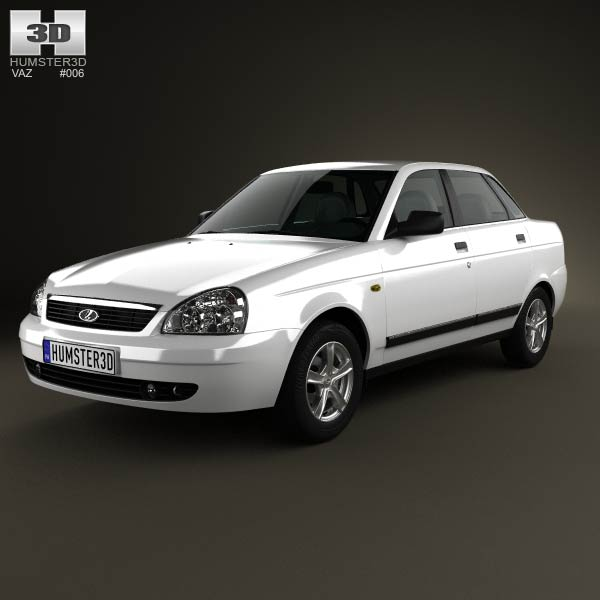 Lada Priora 2170 sedan 2012 3d car model