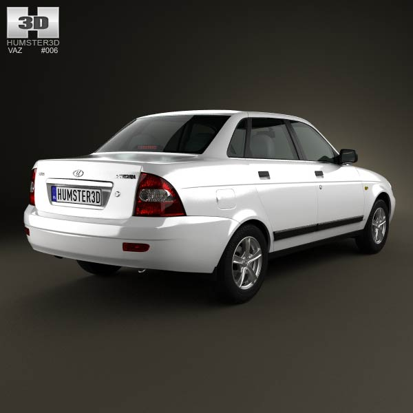 Lada Priora 2170 sedan 2012 3d model