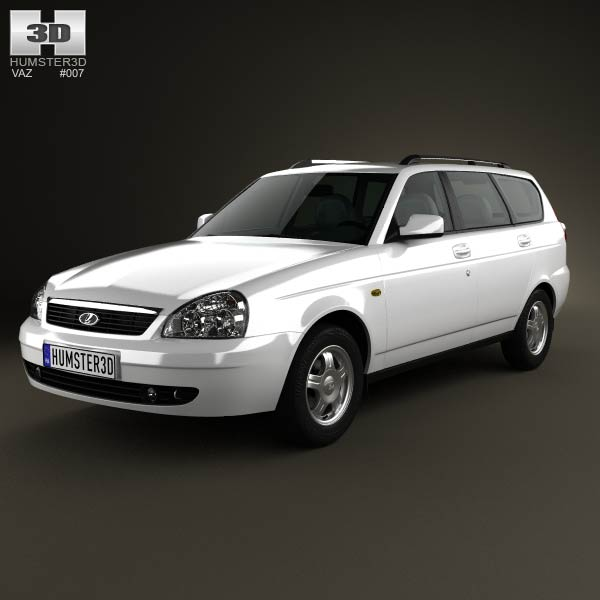 Lada Priora 2171 wagon 2012 3d car model