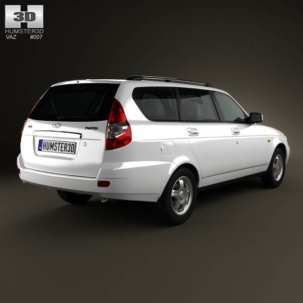 Lada Priora 2171 wagon 2012 3d model