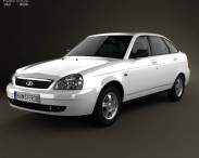 3D model of Lada Priora 2172 hatchback 2012
