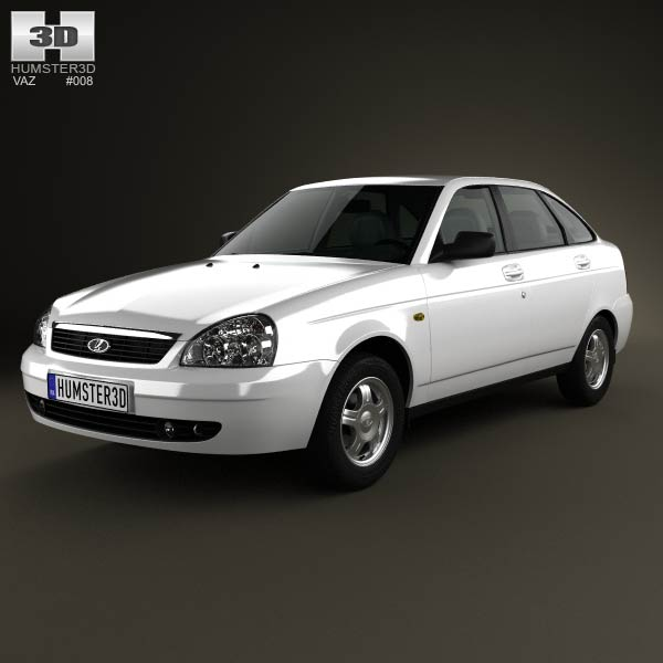 Lada Priora 2172 hatchback 2012 3d car model